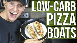 Cutting Season Recipe:  Low-Carb Pizza Boats!
