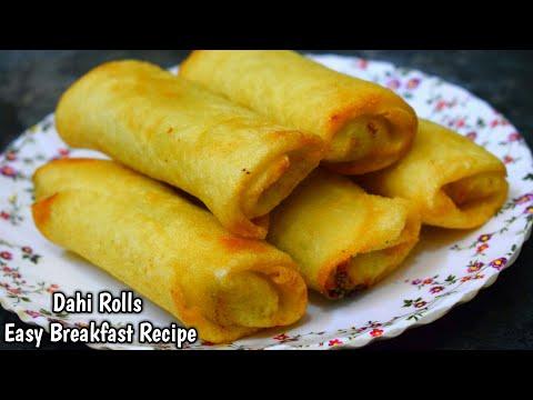 नाश्ते के लिए एक नए तरीके से बनाये दही वेज रोल Dahi Veg Roll Recipe In Hindi Breakfast Recipe Snacks