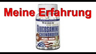 Weider Glucosamin Chondroitin plus MSM - Review und Erfahrung