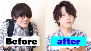 when a loser learns how to set his hair.   Japanese Men's hair style
