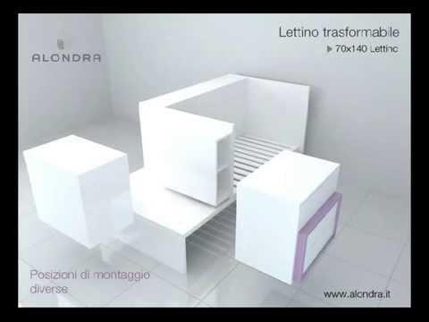 Lettino trasformabile alondra camerette per bambini di for Lettino trasformabile usato