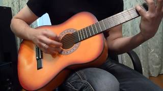 "Example of play on Folk Acoustic Guitar 38"" for Beginner from Tmart.com"