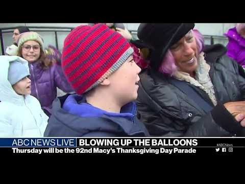 Macy's Thanksgiving Day Parade's balloons inflated | ABC News