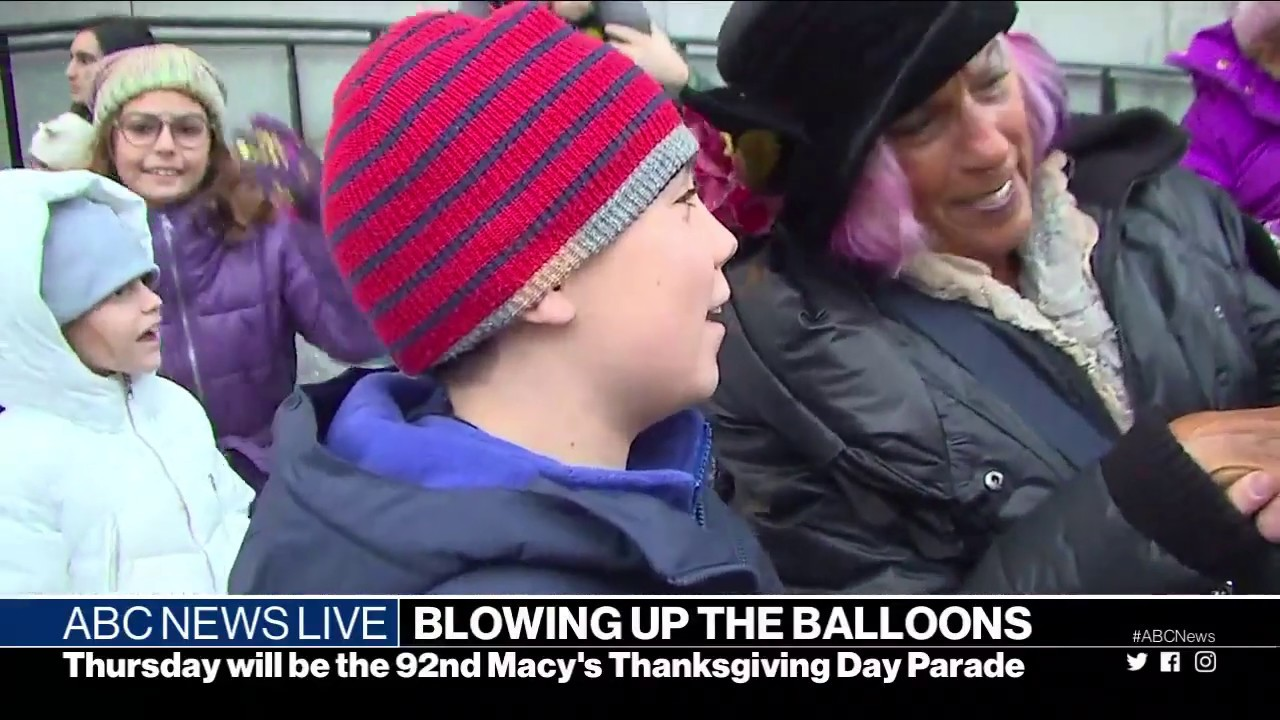 Macys Thanksgiving Day Parades Balloons Inflated Abc News