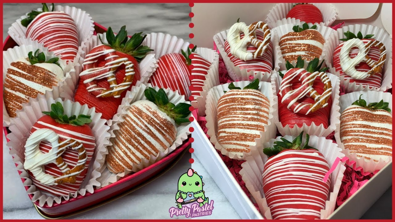 Valentines Day Chocolate Covered Strawberries How To Dip Decorate Youtube