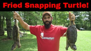 Cooking and Eating Fried Snapping Turtle for the First Time!