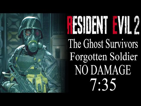 """Resident Evil 2 Remake: (PS4) The Ghost Survivors Forgotten Soldier """"No Damage Clear"""" 7:35"""