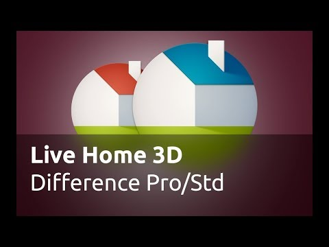 Live Home 3D Pro for iOS / iPadOS - Pro Edition Features