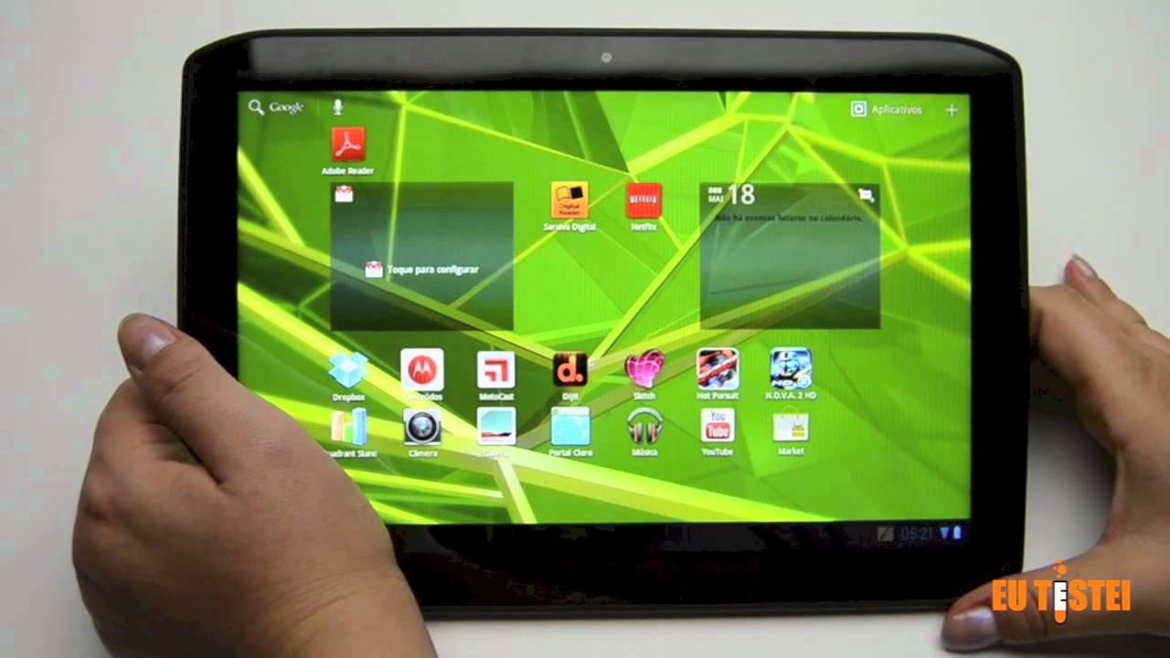tablet motorola xoom 2 3g mz616 resenha brasil youtube. Black Bedroom Furniture Sets. Home Design Ideas