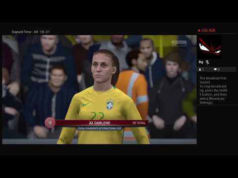Australia Vs Brazil  WOMEN SOCCER        Ps4 Broadcast (FIFA 16)