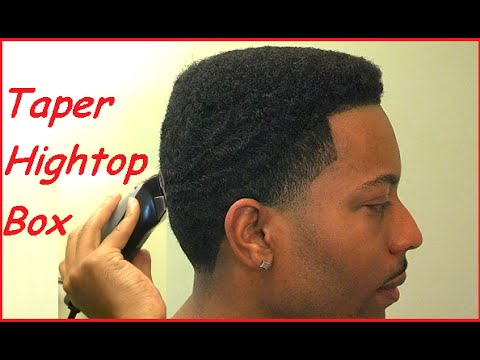 How To Cut A Hightop Box Taper Fade Blowout Youtube