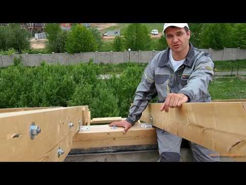 Монтаж мауэрлата, крепление к армопоясу стропил и стене крыши, установка шпильки своими руками