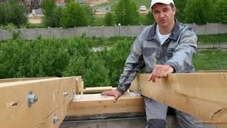 видео Что такое мауэрлат: как закрепить, сделать, установить, гидроизоляция, крепление к армопоясу, к стене, для крыши.