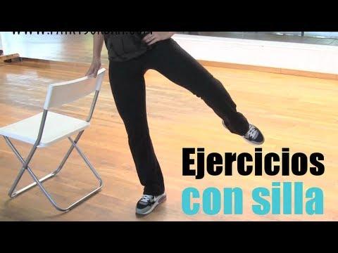 Ejercicios de piernas y cadera con silla youtube for Sillas comodas para trabajar