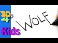 How to turn Words into cartoon for Kids very Easy ! WOLF Wordtoon #2