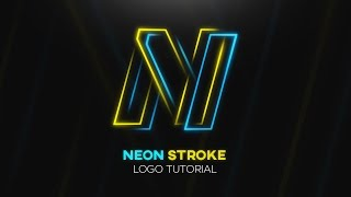 Tutorial | Neon Stroke Logo Design - Photoshop CC 2017