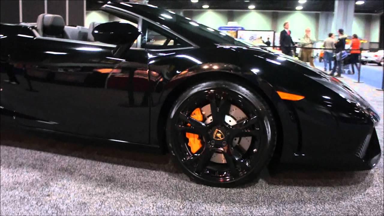 lamborghini gallardo spyder black. black lamborghini gallardo spyder 2012 washington dc auto show youtube l