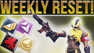 Destiny 2. WEEKLY RESET! (10-3-2017) Nightfall, Milestones, Powerful Gear, Exotic Sparrow & More!