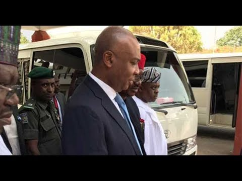 VIDEO The Senators are now at the National Hospital, Abuja to visit their colleague, Senator Dino Me