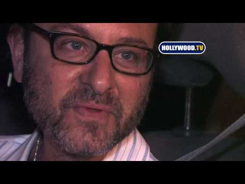 Fisher Stevens Talks To Cameras At Trousdale