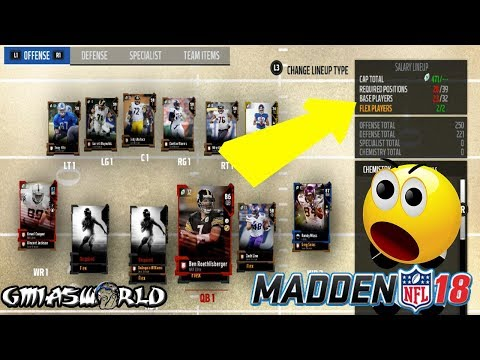 HOW TO BUILD THE BEST SALARY CAP LINEUP IN MADDEN 18 ULTIMATE TEAM GAMEPLAY | MUT 18 TIPS