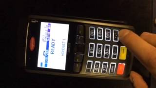 How to switch an Ingenico IWL card machine off