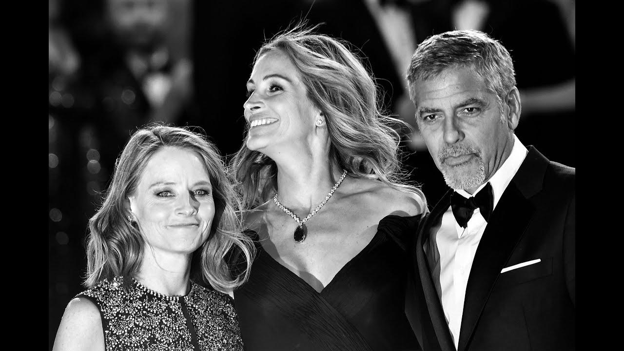 Clooney, Roberts y Foster en una charla de periodismo y cine