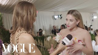 Lili Reinhart Wears Every State Flower at the Met | Met Gala 2021 With Emma Chamberlain | Vogue