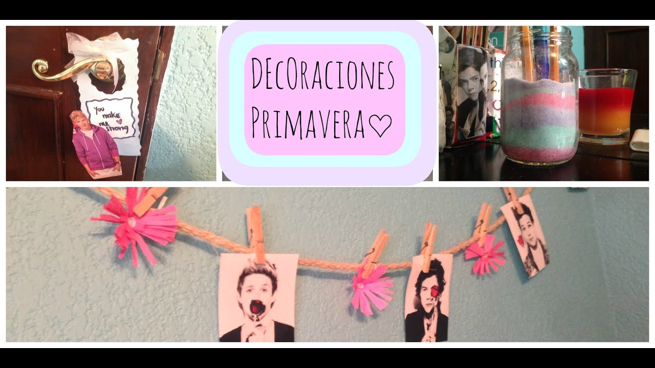 Diy decoraciones para tu cuarto de primavera youtube - Decoracion de primavera ...