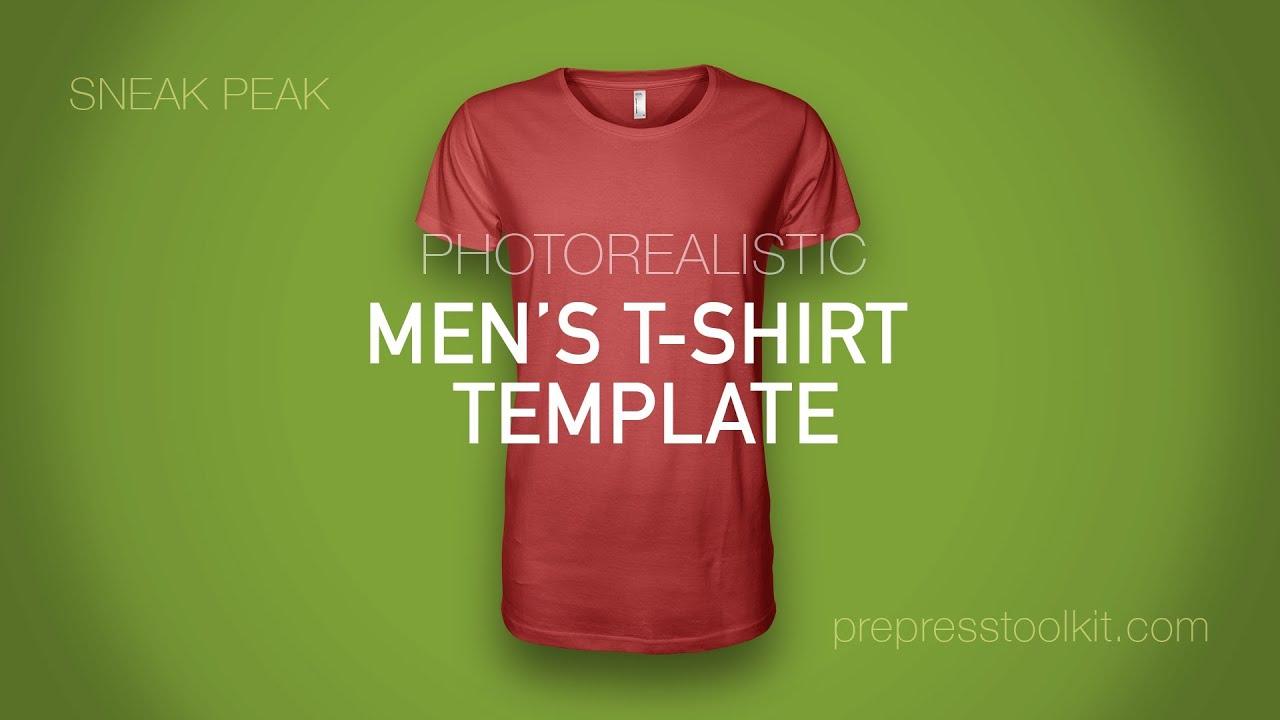 Product Sneak Peak Mens Photorealistic T Shirt Template Mockup
