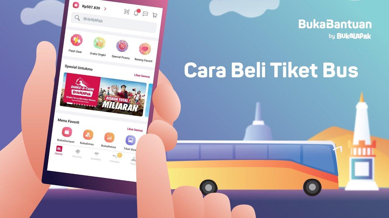 Cara Beli Tiket Bus Online Di Bukalapak Bukabantuan Youtube