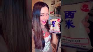 Prefect summer dessert Ximilu tapioca pearls with mango In coconut milk 西米露