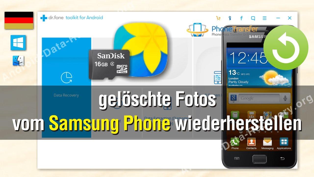 Wie Sie gelöschte Fotos vom Samsung wiederherstellen - YouTube