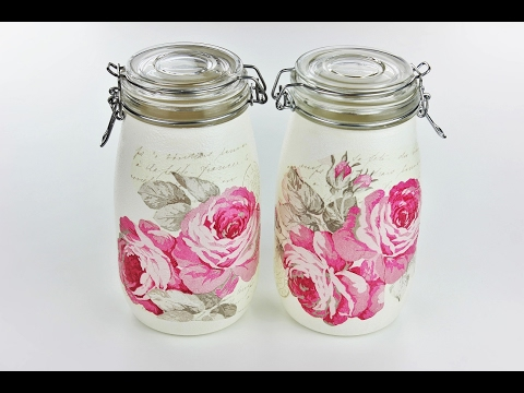 How to make decoupage jars - Decoupage Tutorial - DIY