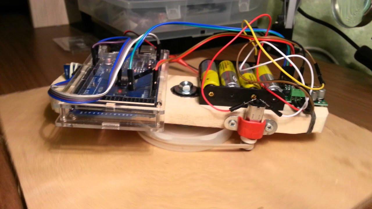 AutoPilot Arduino on a sailing yacht (model)
