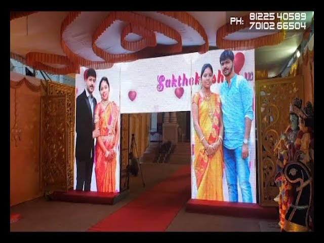 LED Arch Video Wall Gate Name Board Display Wedding Marriage Reception Event Stage Decoration Erode Madurai India 91 8122540589