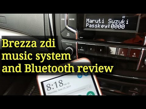 Vitara brezza zdi music system and Bluetooth review in hindi