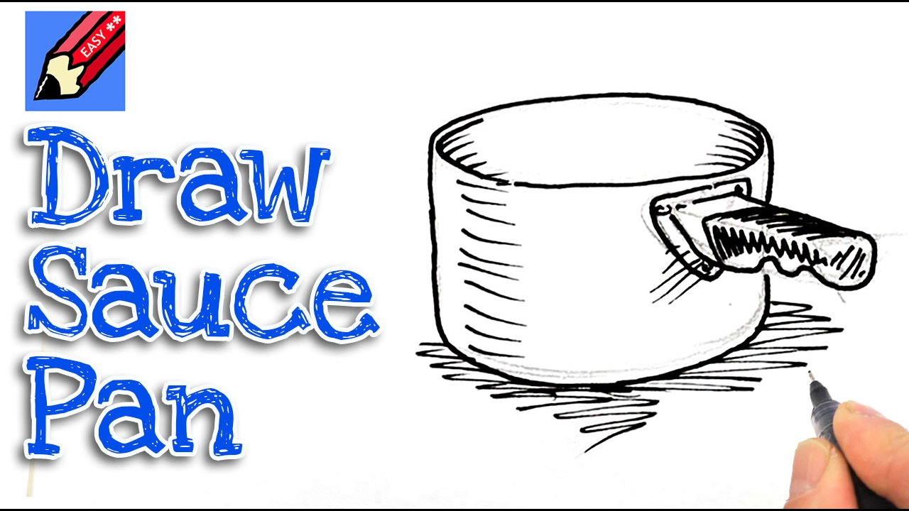 Learn How To Draw A Saucepan Real Easy For Kids And