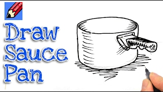 Learn how to draw a saucepan real easy for kids and beginners