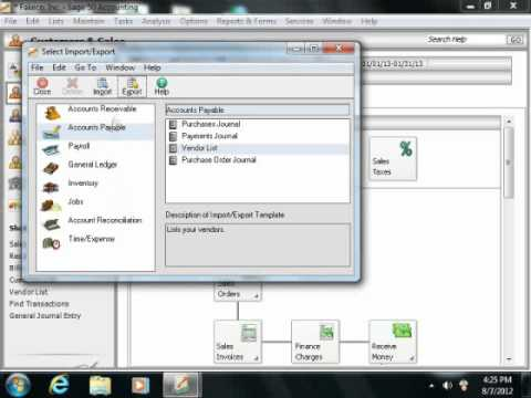 Sage 50 Tutorial Importing and Exporting Data Sage Training Lesson 14.10