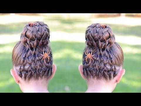 spider web halloween hairstyle