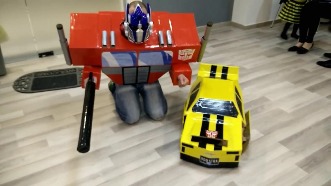 Transformers DIY costumes - Bumblebee u0026 Optimus Prime & Transformers DIY costumes - Bumblebee u0026 Optimus Prime - YouTube