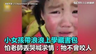 小女孩帶浪浪上學藏書包 怕老師丟哭喊求情:牠不會咬人 |三立新聞網SETN.com