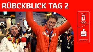 Feier für Johannes Ludwig und Trost für Felix Loch | Team Deutschland | PyeongChang 2018