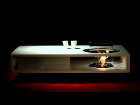 Furniture Review Fire Coffee Long Contemporary Coffee Table By Planika Fires Youtube