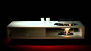 Furniture Review: Fire Coffee Long Contemporary Coffee Table By Planika Fires