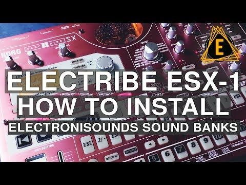Electribe ESX-1- How To Install Electronisounds Sound Banks