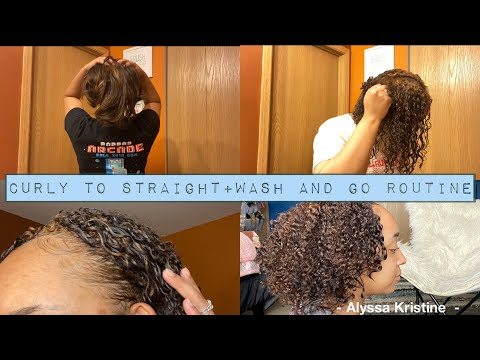straight-to-curly-|-wash-and-go-routine-2020-|-argan-oil-eco-styler