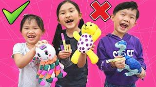 毛绒娃娃塗顏色比賽!三色马克笔挑戰~ 有可愛兔子、恐龍、小熊公仔~Three Markers Plushie Challenge~Fun Diy Doodle Colouring!