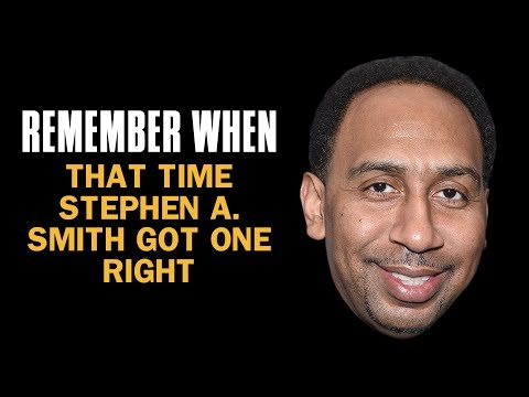 Thumbnail: The One Time Stephen A Smith Got It Right | Remember When